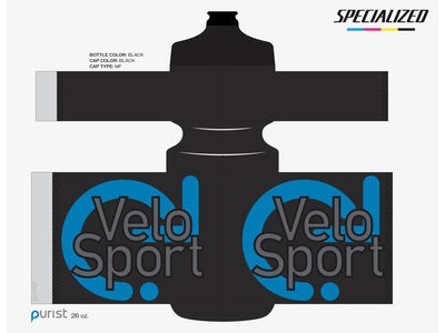 Specialized VeloSport Purist MoFlo Bottle 26oz Black