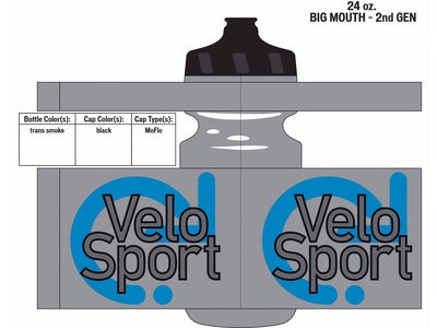 Specialized VeloSport Big Mouth Bottle 24oz Trans Smoke