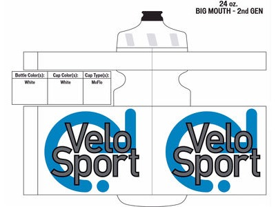 Specialized VeloSport Big Mouth Bottle 24oz White